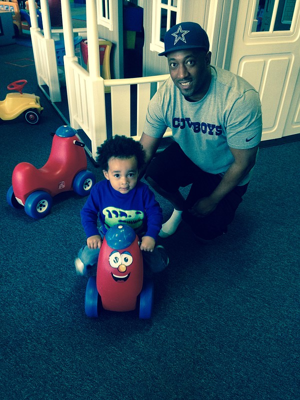 Local Hero Andre Jones spends quality time with his son, ...