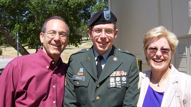 Dr. Howard Somers is pictured with his son Sgt. Daniel Somers and wife Jean i...