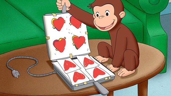 Happy Valentines Day Curious George