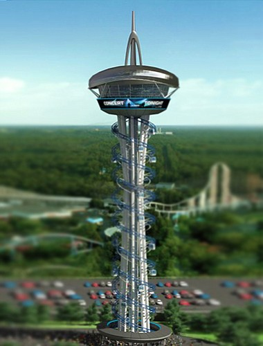 """""""SkySpire San Diego"""" would be a 250-foot-tall cylinder-sh..."""