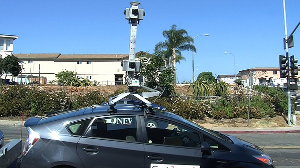 A car owned by Cartegraph Systems outfitted with a camera...