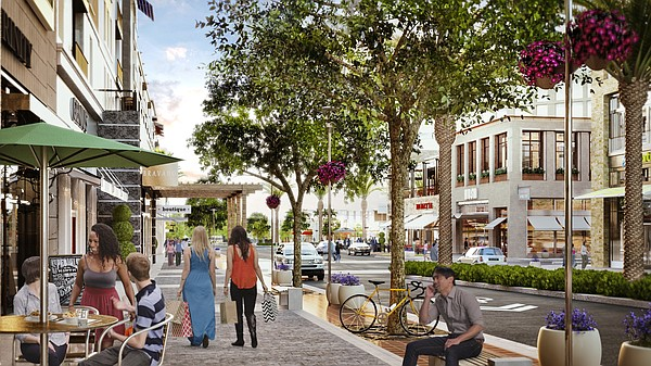 An artist's rendering gives a glimpse of the Main Street ...