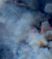 The Bernardo Fire spread in northern parts of the city of San Diego on Tuesday, May 13, 2014. The region's wildfires prompted the city of San Diego to activate its Emergency Operations Centers, which are overseen by the city's Office of Homeland Security.