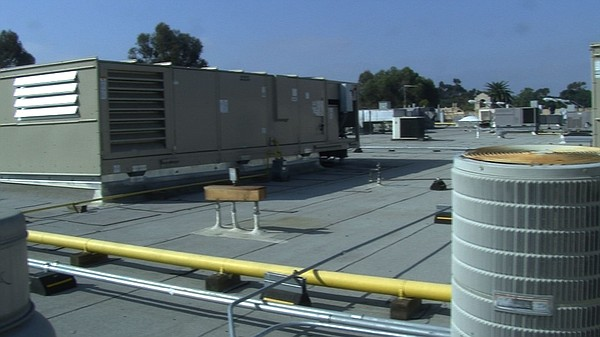 Air conditioning units on the roof of Casa De Balboa, Feb...