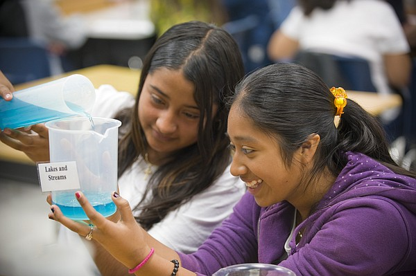 Students at the Ocean Discovery Institute participating in classroom initiati...