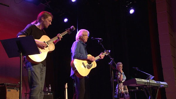 Justin Hayward (center), the legendary Moody Blues lead s...