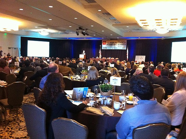 Hundreds of business leaders attend the second North County Economic Summit a...