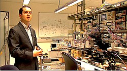 Patrick Mercier is pictured at the UC San Diego's Center for Wearable Sensors...
