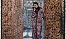 "A photograph titled ""Harem #4"" by Lalla Essaydi."