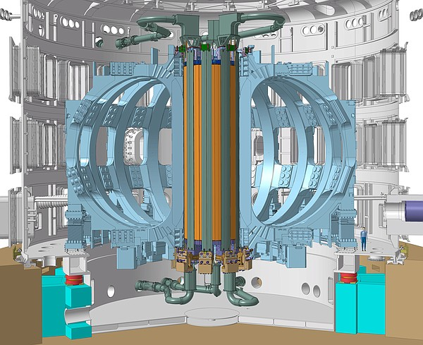 The central solenoid, in yellow, is the backbone of the I...