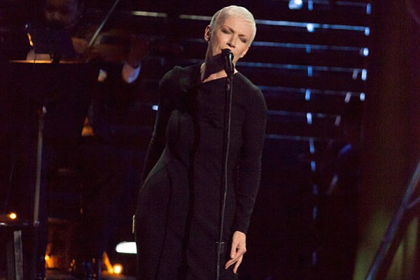 Music superstar Annie Lennox performs some of the most me...