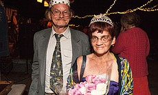 A portrait of Slab City's new prom king and queen, John and Teresa Vaughn, Ma...