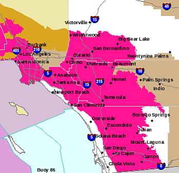 Santa Ana Fire Map.Santa Ana Winds Bring High Fire Danger To San Diego County Kpbs
