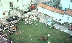Looting occurred inside the U.S. Embassy compou...
