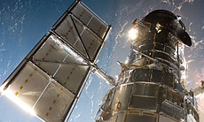 The Hubble Space Telescope in a picture snapped...