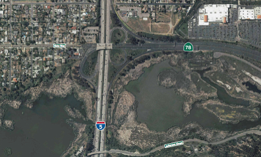 The Interchange between Interstate 5 and Highway 78 in No...