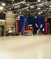 Studio A cleared and ready for action