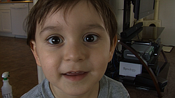 Pictured is Oliver Cleaver Alvarez, 3, who would qualify for California's state-funded preschool if his parents earned just a couple hundred dollars less each month, March 2015.