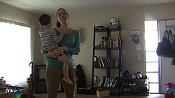 Pictured are Jessica Cleaver and her son, Oliver, in their eastern Escondido trailer home, March 2015.