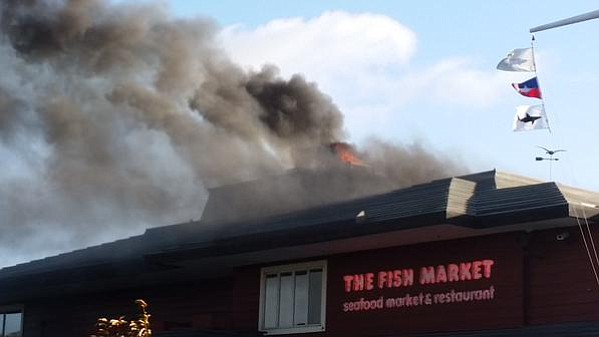Grease fire at downtown san diego fish market causes 1 2m for Fish market restaurant san diego
