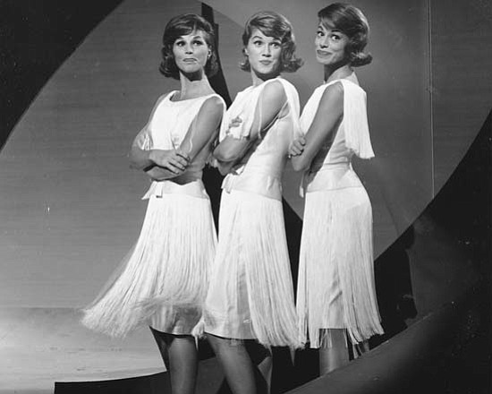 The McGuire Sisters harmonize 1950s favorites such as