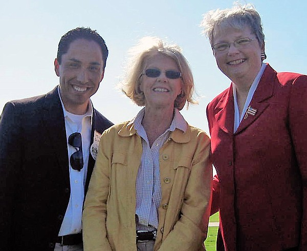 Kehoe with San Diego City Council representative, Todd Gl...