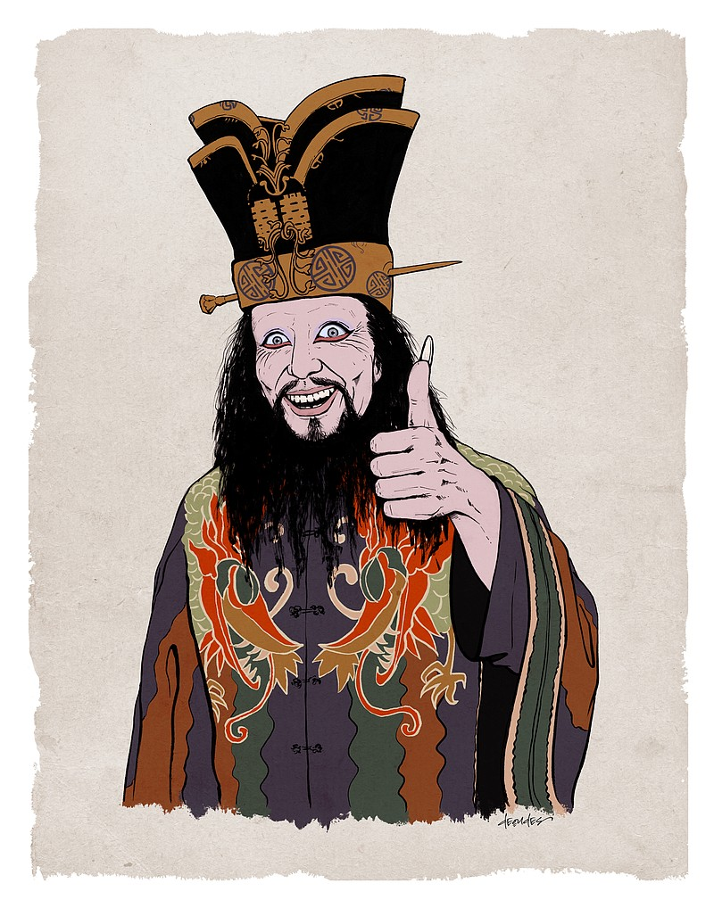 Erika Deoudes's portrait of Lo Pan was used as the poster art for Thumbprint ...