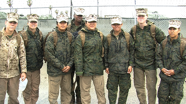 Female Marines who are part of an experimental task force...
