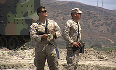 Data collectors with the Marine Corps Operation...