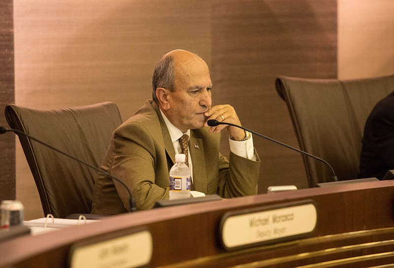 Escondido Mayor Sam Abed attends a council meeting, May 20, 2015.