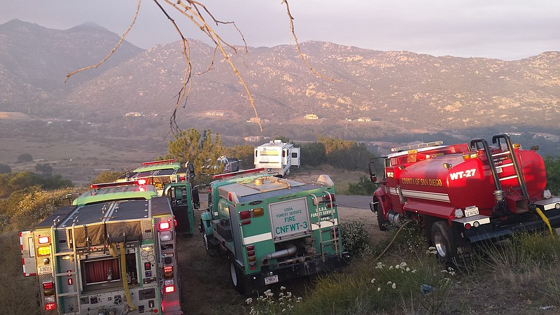 Firetrucks from the San Diego County Fire Depar... ()