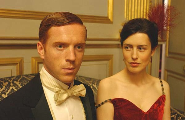 Damian Lewis as Soames and Gina McKee as Irene.