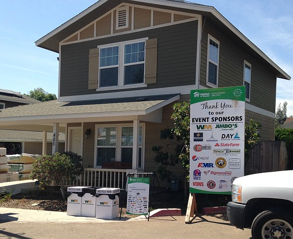 One of the homes built by Habitat for Humanity on Foundat...