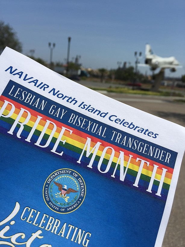 The flyer for LGBT Pride event at Naval Air Station North Island in Coronado, June 30, 2015.