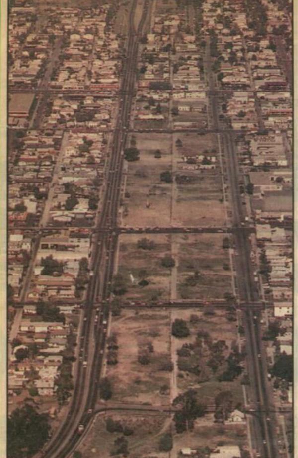 An undated newspaper clipping shows residential lots in C...