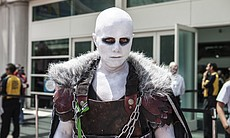 A man in costume at San Diego Comic-Con, July 9...
