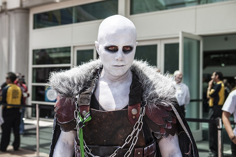 A man in costume at San Diego Comic-Con, July 9, 2015.