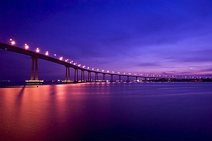 Photo for While Suicides Off Coronado Bridge Add Up, Lighting Project Raises Concerns I...