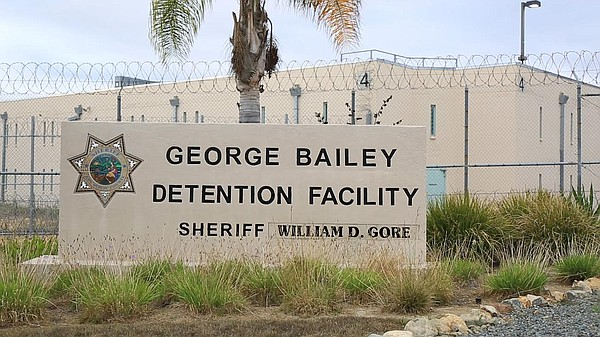 Outside the George Bailey Detention Facility in San Diego...