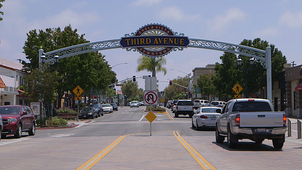 The Third Avenue sign in Chula Vista is shown on July 30,...