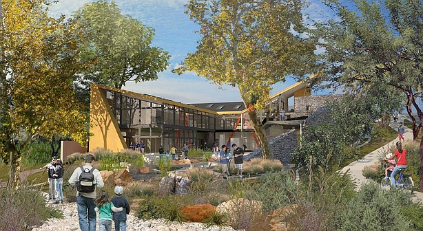 This undated rendering shows the 11,000-square-foot Ocean Discovery Institute...