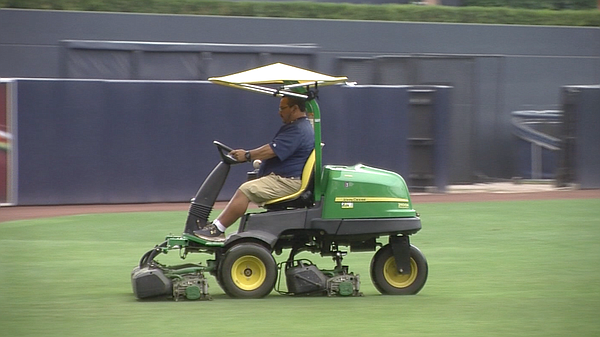 One of the San Diego Padres biodiesel-powered lawnmowers ...