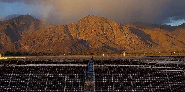 Solar panels in Borrego Springs are pictured in this undated photo.