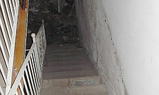 This undated photo shows the stairway in Tanis ...