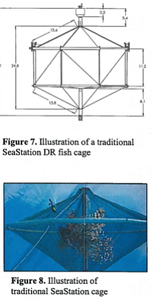 Potential designs of the fish cages in the proposed Rose Canyon Fisheries aqu...