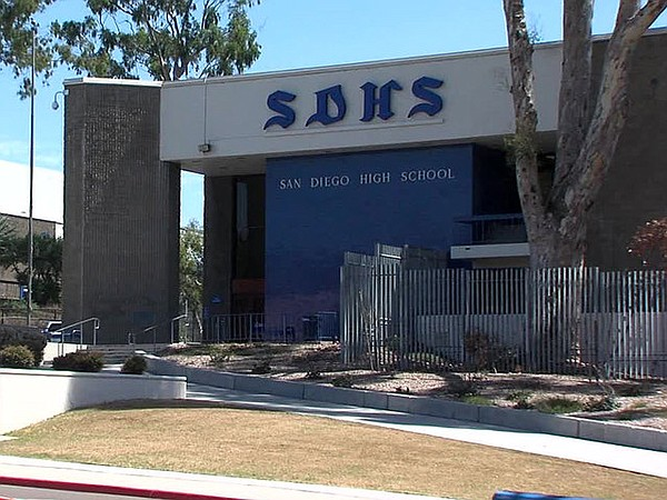 San Diego High School is pictured in this undated photo.