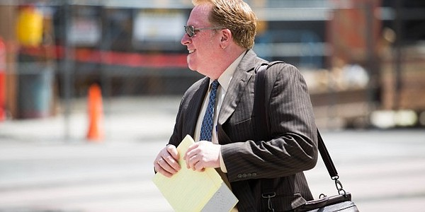 Cory Briggs leaves court in San Diego, July 31, 2015.