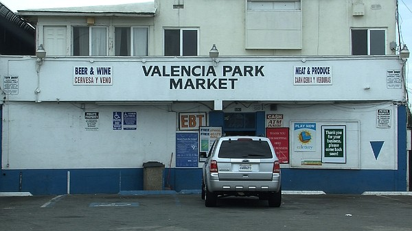 The Valenica Park Market storefront at the intersection o...