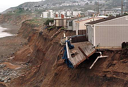 Coastal erosion from a strong El Niño in 1998 destroyed dozens of homes and s...