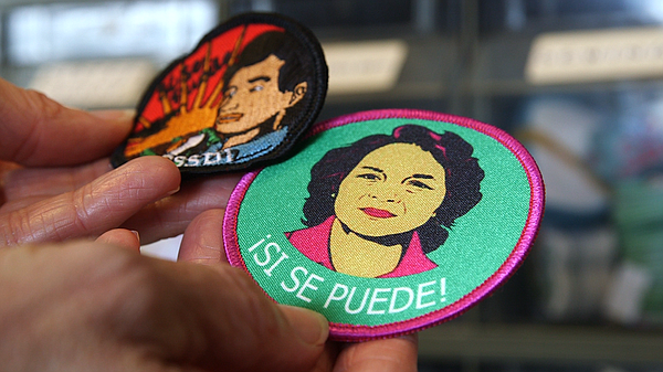 Girl Scout patches embroidered with the faces of United F...